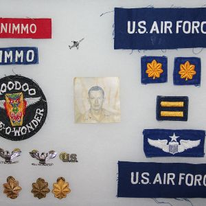 T232. NAMED VIETNAM USAF F-101 VOODOO PILOT INSIGNIA GROUP
