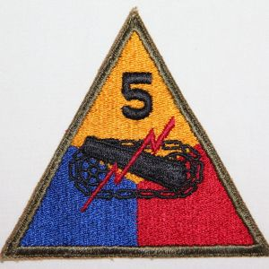G177. WWII 5TH ARMORED DIVISION PATCH