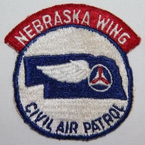 S119. 1950'S NEBRASKA WING CIVIL AIR PATROL PATCH