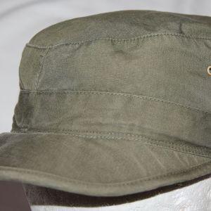 C081. LATE WWII - KOREA OD POPLIN FIELD CAP