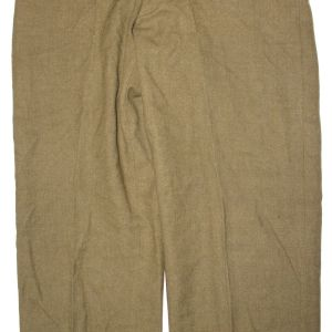 D096. WWII MUSTARD COLOR WOOL COMBAT FIELD TROUSERS