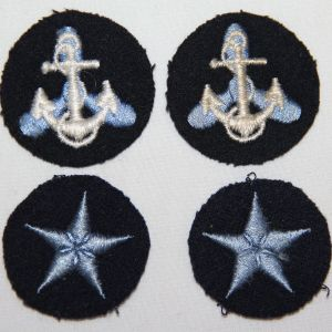 H116. WWII US NAVY WOMENS WAVE OFFICER COLLAR AND CUFF INSIGNIA