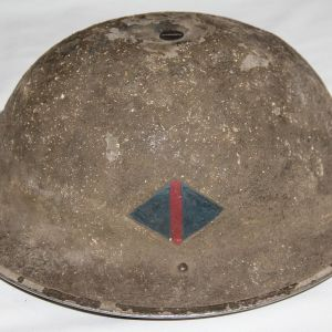 C083. EARLY WWII 1938 BRITISH MKII HELMET WITH RAOC PAINTED FLASH