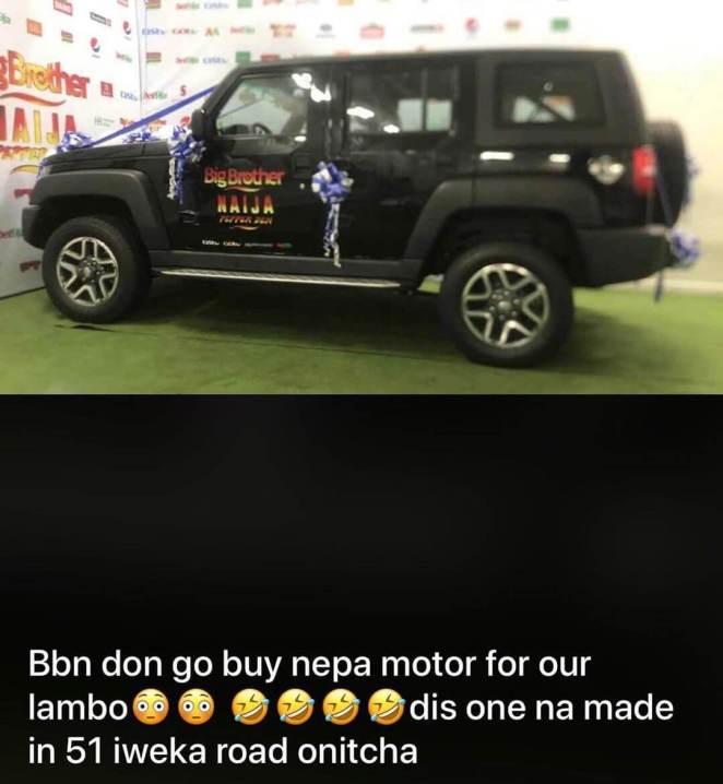 Mercy Car bbnaija 2019