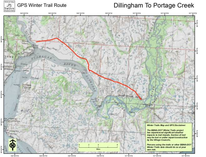 Dillingham to Lewis Point to Portage Creek