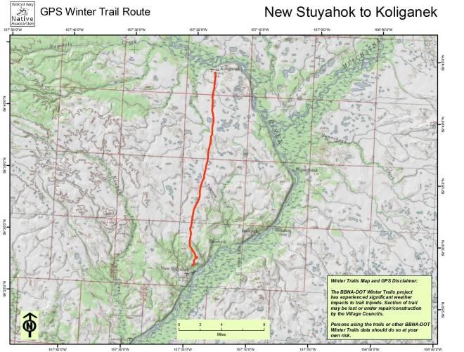 New Stuyahok to Koliganek