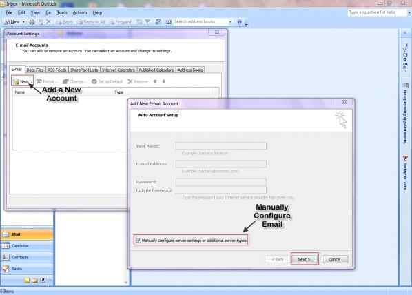 how to add another email account to outlook 2013
