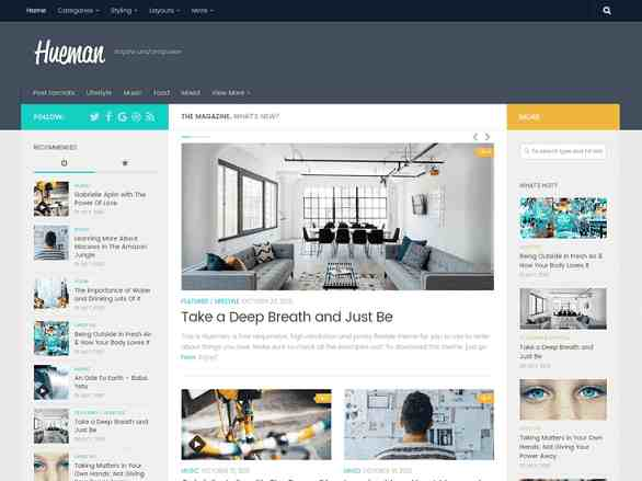 free WordPress blog themes
