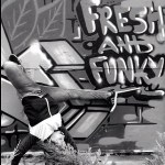 bgirl breakdancing with graffiti background