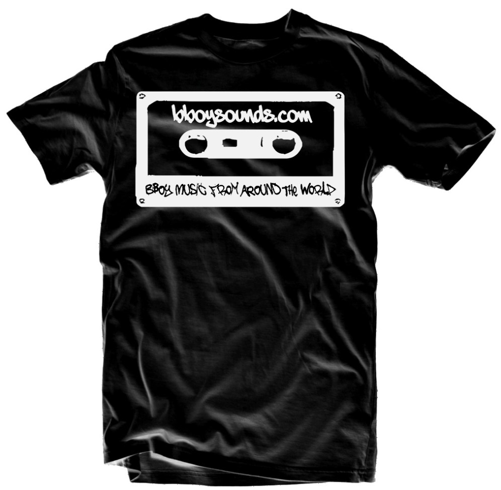 bboy shirt bboysounds logo black 2013