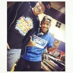 Very dope DJ @doublethreatdemo rocks the #bboysoundscassette w @lorenzoicetea @ Jus Break!!Follow him > @doublethreatdemo Grab your cassette shirt @ Bboywear.com!#repost #bboysounds #jusbreak