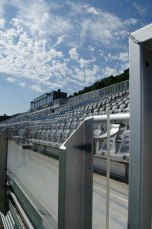 The sun beats down on the Riverhounds' venue and their players on Wednesday.