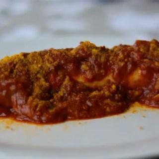 Currywurst vom Grill