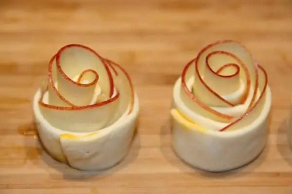 Apfel-Rose aus Blätterteig!