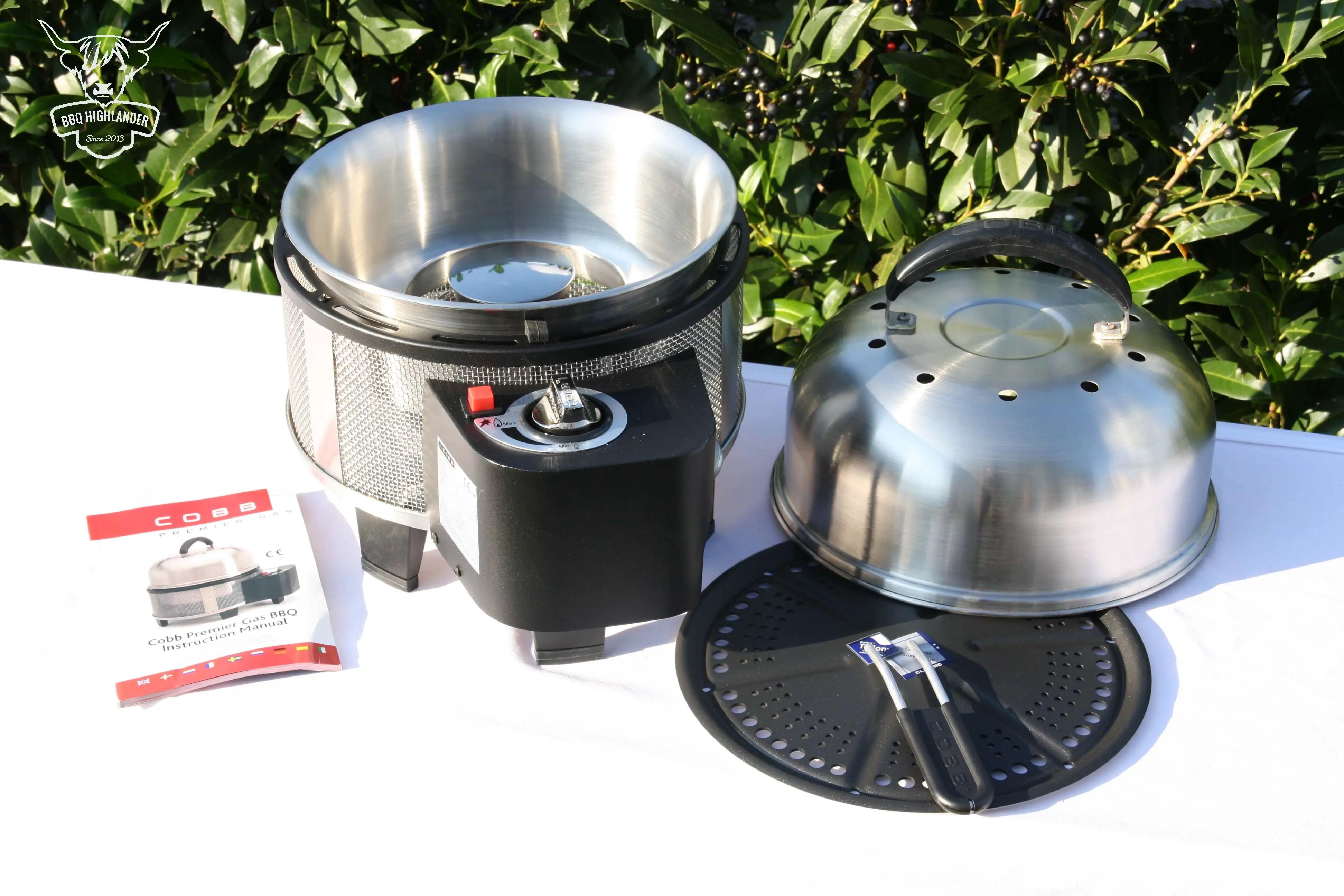 einweihung des neuen cobb premier gas grill bbq highlander. Black Bedroom Furniture Sets. Home Design Ideas