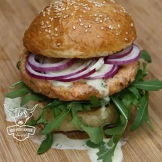Der Lachs-Burger