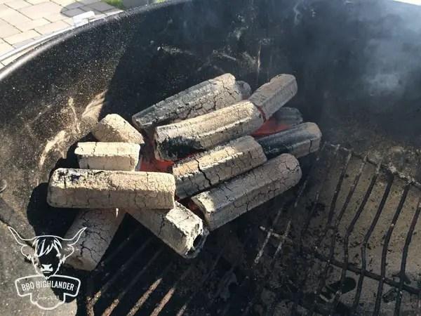 Greek Fire wurde im Grill platziert