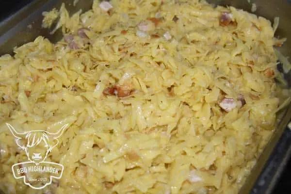 Vorbereitung der Kartoffelmasse für Puttes
