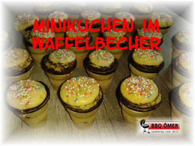 Minikuchen Im Waffelbecher Bbq Omer