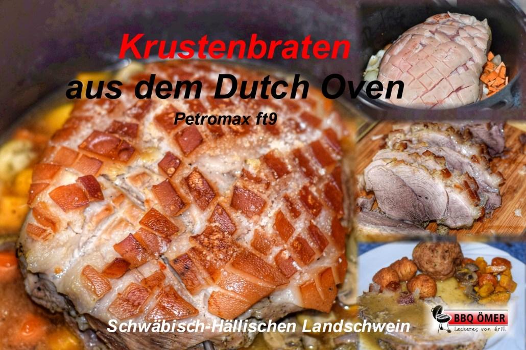 Pulled Pork Gasgrill Dutch Oven : Krustenbraten aus dem dutch oven petromax ft9