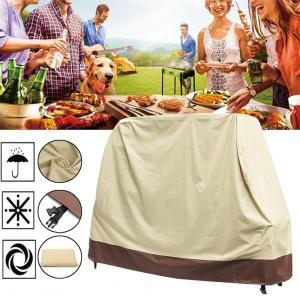 600D Oxford Cloth Beige BBQ Grill Gas Barbecue Waterproof Cover Outdoor Heavy Duty Protector - #2