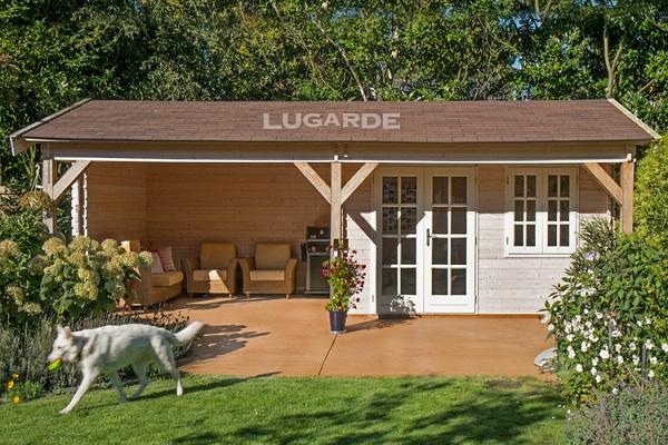 Lugarde Blokhut Bliss (met overkapping) B39 - 800x400 cm