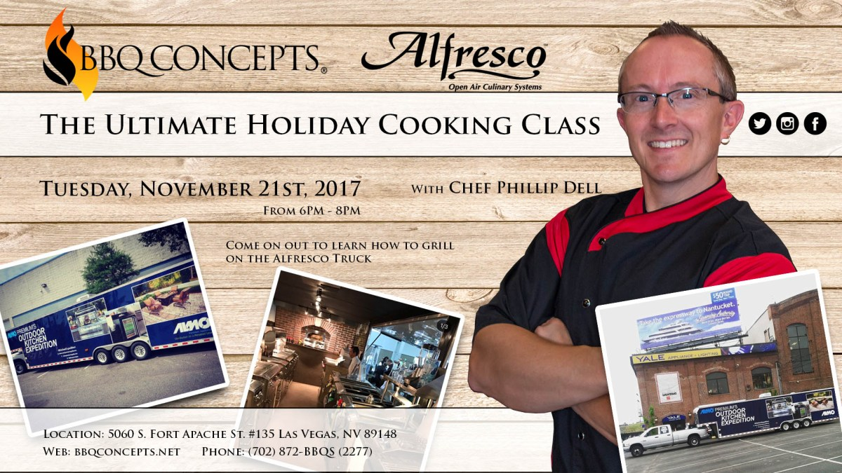 BBQ Concepts Ultimate Holiday Cooking Class Poster