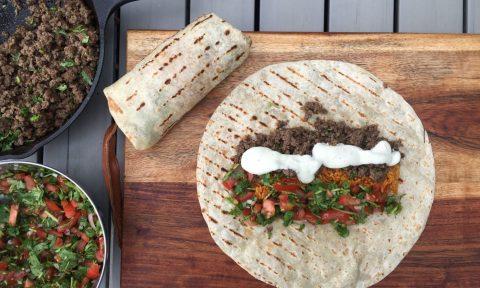 Die Zutaten für leckere Burritos