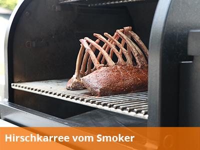 Hirschkarree-vom-Smoker