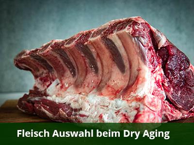 Fleisch Auswahl beim Dry Aging
