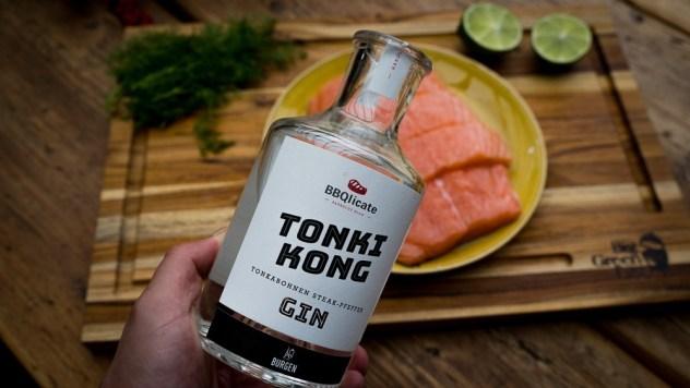 Gebeizter Lachts mit Tonki Kong Gin