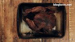 12lbs smoked turkey cooked to USDA temperature of 165F. Brown Sugar Love Rubbed. Top Down View. Wood Table