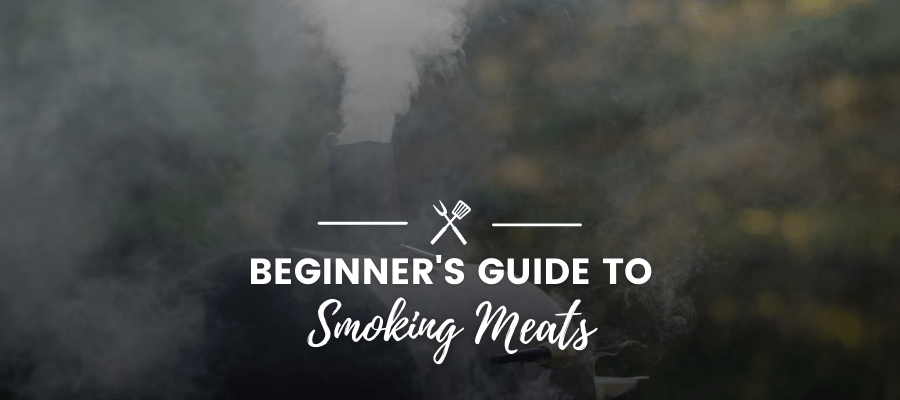 An image of some trees and other nature with text over it that reads 'A Beginner's Guide to Smoking Meats'