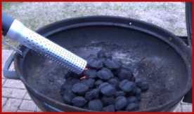 Lighting charcoal