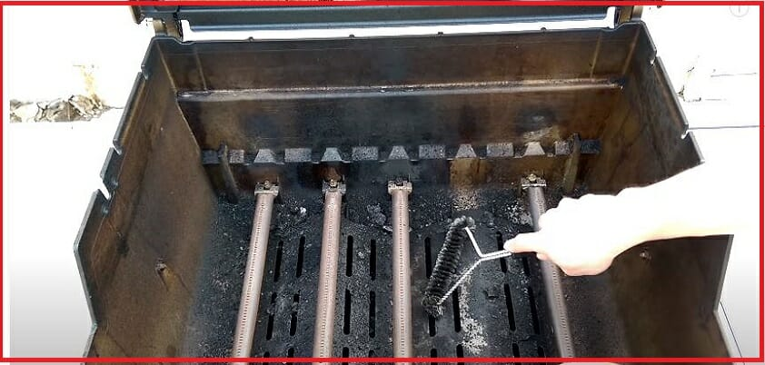 how to clean gas grill burners