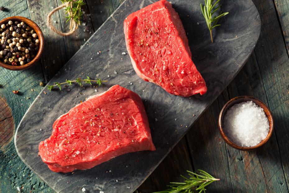Raw Organic Grass Fed Sirloin Steak
