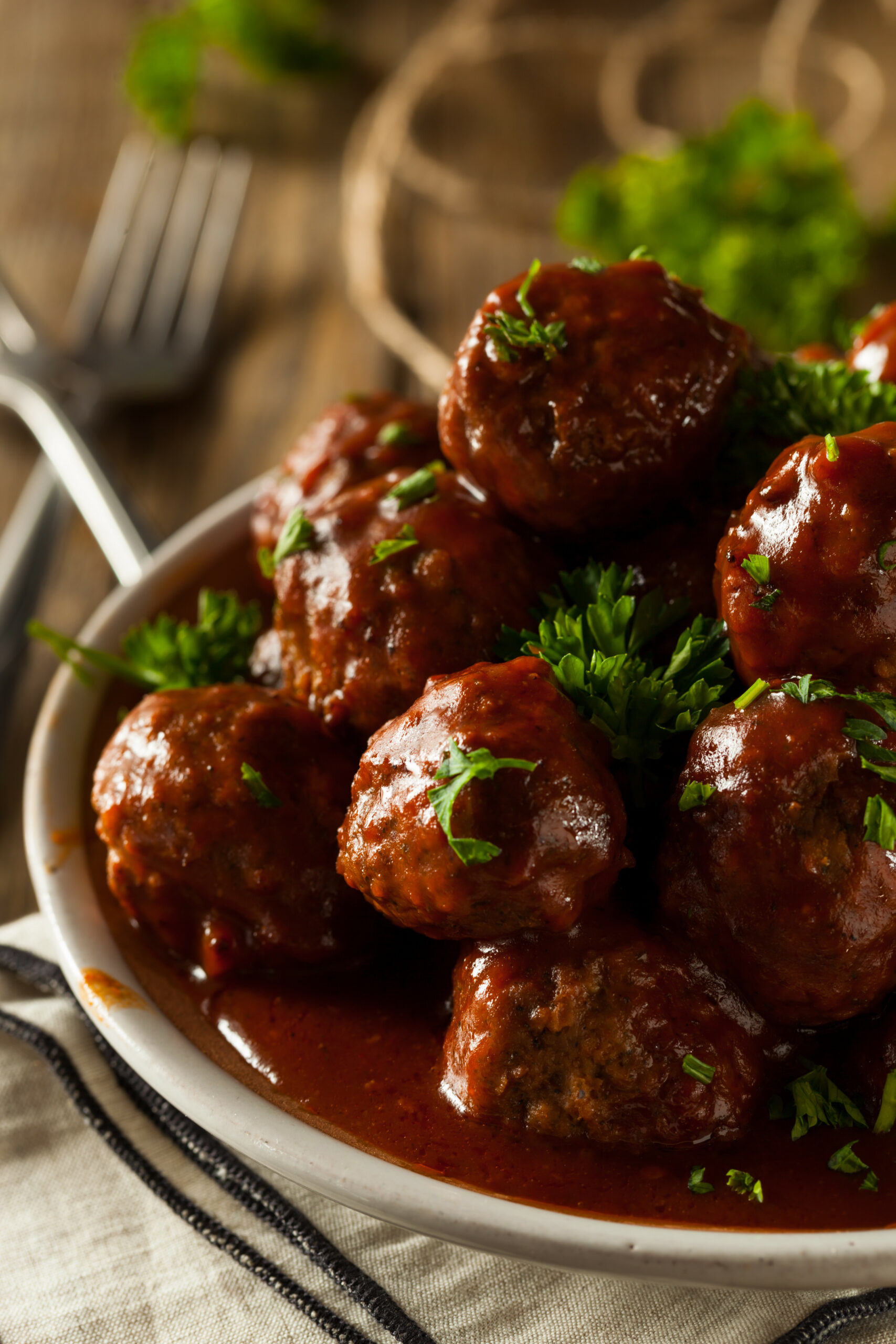 Homemade Barbecue Meat Balls
