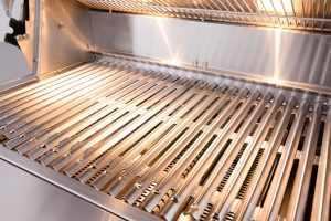 American Muscle Grills Multi-Fuel Built-in Barbecue Grill Close-up Grates