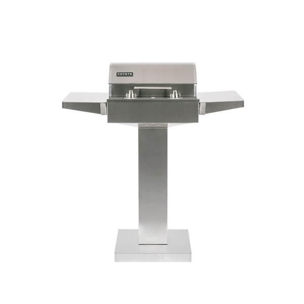 C1EL120SM Coyote Outdoor Living Single Burner 120v Electrical Grill on Pedestal