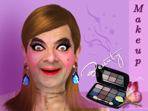 funny mr bean make up