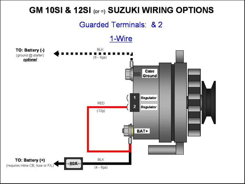 dynamo to alternator conversion wiring diagram inflatable origami » gm 10si/12si - (1-wire) diagrams ...