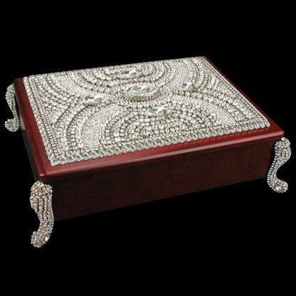 bb Simon Swarovski crystal jewelry box J-705