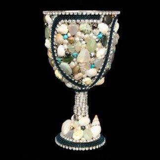 B.B.SIMON CUP-501 Swarovski Precious Stone Wine Glass
