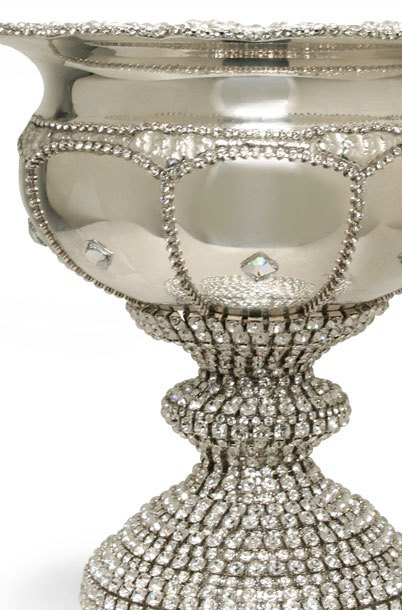 B.B.SIMON CUP-505 Clear Swarovski Diamond Crystal Schooner Wine Glass
