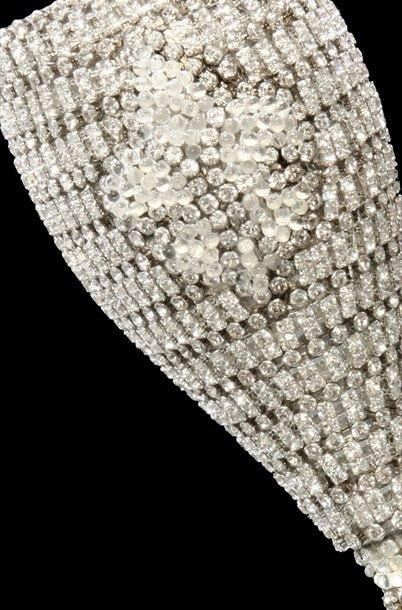 B.B.SIMON CUP-508 Swarovski Crystal Fleur De Lis Wine Glass