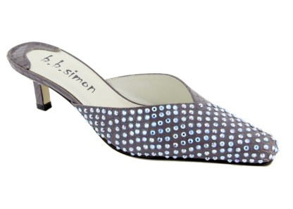 B.B.SIMON SHOES 7463-Purple-AB Swarovski Womens Pumps