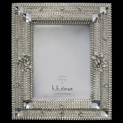 F-146-CLEAR-L bb Simon Swarovski crystal frame
