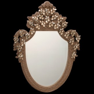 M-202-BB Simon Gold Framed Wall Bling Mirror