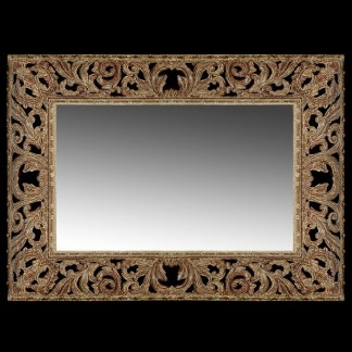 M-506-GOLD BB Simon Gold Rectangle Wall Mirror
