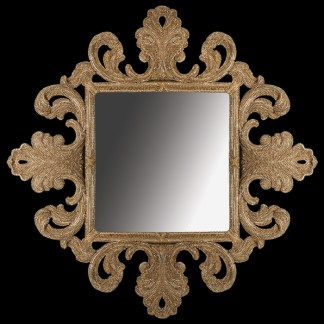 M-518-GOLD BB Simon Gold Diamond Framed Mirror
